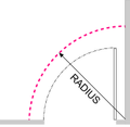 "Radius track (continuous arc).  Select radius: 48"", 60"" or 72"""