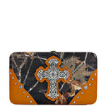 ORANGE CROSS MOSSY CAMO LOOK FLAT THICK WALLET FW2-0421ORG
