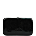 BLACK DISTRESSED LOOK FLAT THICK WALLET FW2-3601BLK