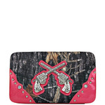 HOT PINK MOSSY CAMO PISTOL LOOK FLAT THICK WALLET FW2-1203HPK