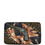 BROWN TOOLED MOSSY CAMO PISTOL LOOK FLAT THICK WALLET FW2-1204BRN