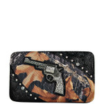 BLACK TOOLED MOSSY CAMO PISTOL LOOK FLAT THICK WALLET FW2-1204BLK