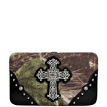 BLACK CROSS MOSSY FELT CAMO LOOK FLAT THICK WALLET FW2-0480BLK