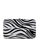 GREEN TRIM ZEBRA LOOK FLAT THICK WALLET FW2-0307GRN
