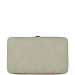 BEIGE COLOR BLOCK LOOK THICK FLAT WALLET FW2-0310BEI