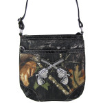 BLACK PISTOLS MOSSY LOOK MESSENGER BAG MB1-10101BLK