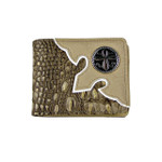 BEIGE CROCODILE CROSS MENS WALLET MW1-0429BEI