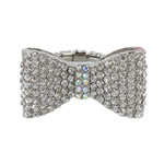 AB RHINESTONE BOW STRETCH FASHION RING FR1-0101AB