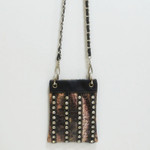 BLACK CAMO STUDDED RHINESTONE MINI MESSENGER BAG MB2-1205BLK