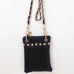 BLACK GOLD STUDS MINI MESSENGER BAG MB2-1204BLK