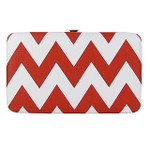 RED CHEVRON LOOK FLAT THICK WALLET FW2-12107RED