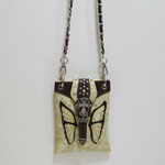 BEIGE STUDDED RHINESTONE BUTTERFLY MINI MESSENGER BAG MB2-0412BEI