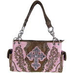 PINK RHINESTONE BUCKLE LOOK SHOULDER HANDBAG HB1-63LCRPNK