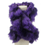 PURPLE FUR COTTON NECK SCARF NS1-0153PPL