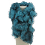 TURQUOISE FUR COTTON NECK SCARF NS1-0153TRQ