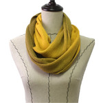 YELLOW FADED LONG COTTON NECK SCARF NS1-0167YLW