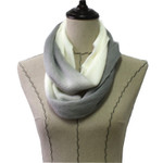 WHITE FADED LONG COTTON NECK SCARF NS1-0167WHT