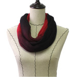 RED FADED LONG COTTON NECK SCARF NS1-0167RED