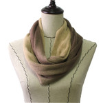 BROWN FADED LONG COTTON NECK SCARF NS1-0167BRN
