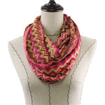 HOT PINK AZTEK LONG COTTON NECK SCARF NS1-0170HPK