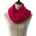 HOT PINK SEQUENCE LONG COTTON NECK SCARF NS1-0171HPK