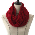 RED SEQUENCE LONG COTTON NECK SCARF NS1-0171RED
