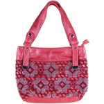 HOT PINK FLOWER RHINESTONE LOOK SHOULDER HANDBAG HB1-6132HPK