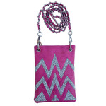 HOT PINK CHEVRON MINI MESSENGER BAG MB2-1216HPK