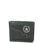BLACK CROCODILE STAR MENS WALLET MW1-0444BLK