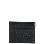 BLACK CROCODILE MENS CARD HOLDER MW4-0401BLK