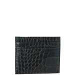 BLACK CROCODILE MENS MONEY CLIP CARD HOLDER MW7-0400BLK