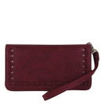 RED STUDDED LOOK FASHION WALLET FW1-0202RED