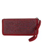 RED STUDDED RHINESTONE LOOK FASHION WALLET FW1-0205RED