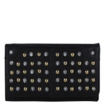BLACK STUDDED RHINESTONE LOOK FASHION WALLET FW1-0206BLK