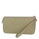 BEIGE PLAIN LOOK FASHION WALLET FW1-0207BEI