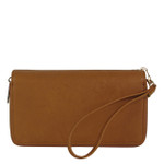 BROWN PLAIN LOOK FASHION WALLET FW1-0207BRN
