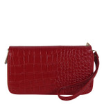 RED PLAIN CROCODILE LOOK FASHION WALLET FW1-0208RED