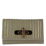 TAN STRIPED LOOK FASHION WALLET FW1-0209TAN