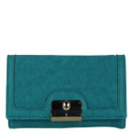 TURQUOISE INFINITY DESIGN LOOK FASHION WALLET FW1-0210TRQ