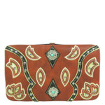 RED STUDDED LOOK FLAT THICK WALLET FW2-12123RED