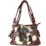 RED COW CROSS LOOK SHOULDER HANDBAG HB1-CHF1114RED