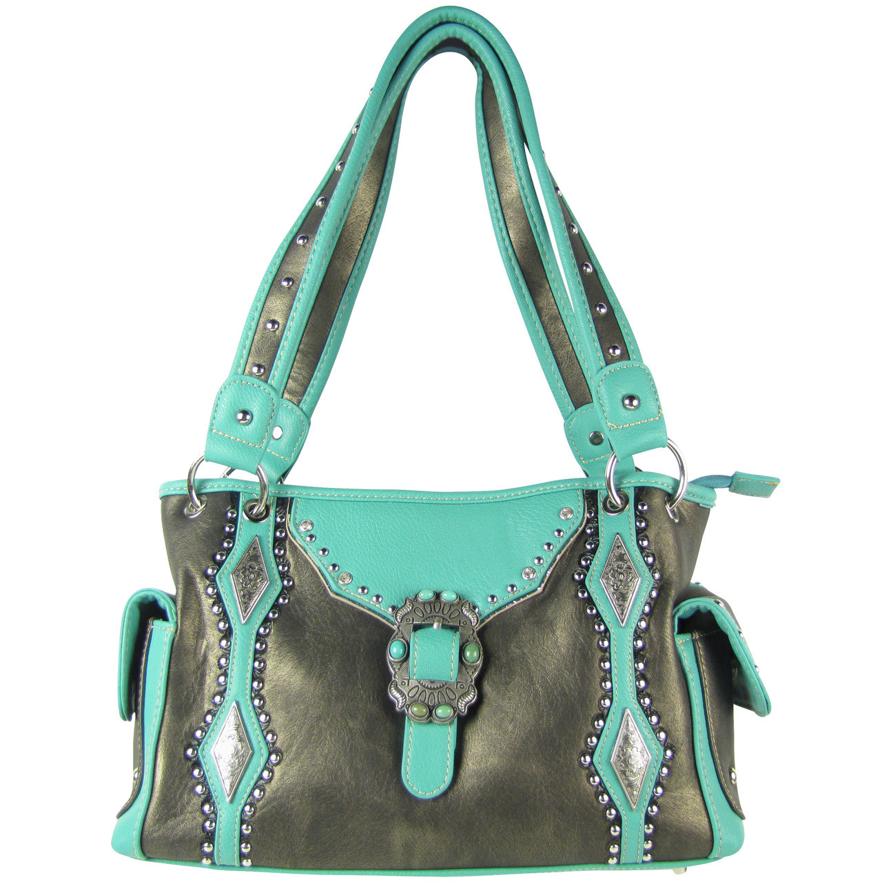 GRAY STITCHED BUCKLE DESIGN LOOK SHOULDER HANDBAG GRAY STITCHED BUCKLE DESIGN LOOK SHOULDER HANDBAG HB1-CHF1117GRY