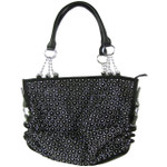 BLACK LASER CUT DESIGN LOOK SHOULDER HANDBAG HB1-AB9050BLK