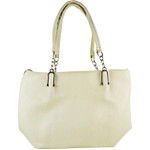 BEIGE PLAIN PATTERN STITCHING FLAT DESIGN LOOK SHOULDER HANDBAG HB1-8079BEI
