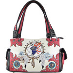 HOT PINK AMERICAN FLAG EAGLE LOOK SHOULDER HANDBAG HB1-CHF1106HPK
