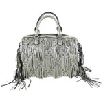 GRAY STUDDED RUFFLE LOOK SHOULDER HANDBAG HB1-CAB-8812GRY