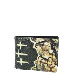 BLACK MOSSY CAMO WESTERN STITCHED CROSS LOOK MENS WALLET MW1-0456BLK