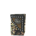 BLACK MOSSY CAMO BULL LOOK TRIFOLD WALLET MW3-0407BLK