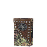 BROWN MOSSY CAMO WOLF LOOK TRIFOLD WALLET MW3-0411BRN
