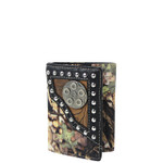 BLACK MOSSY CAMO TOOLED LOOK TRIFOLD WALLET MW3-0412BLK